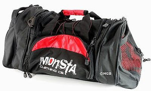 MONSTA Bodybuilding Pro Sport Large Embroidered Gym Duffle Bag Wet Dry Storage
