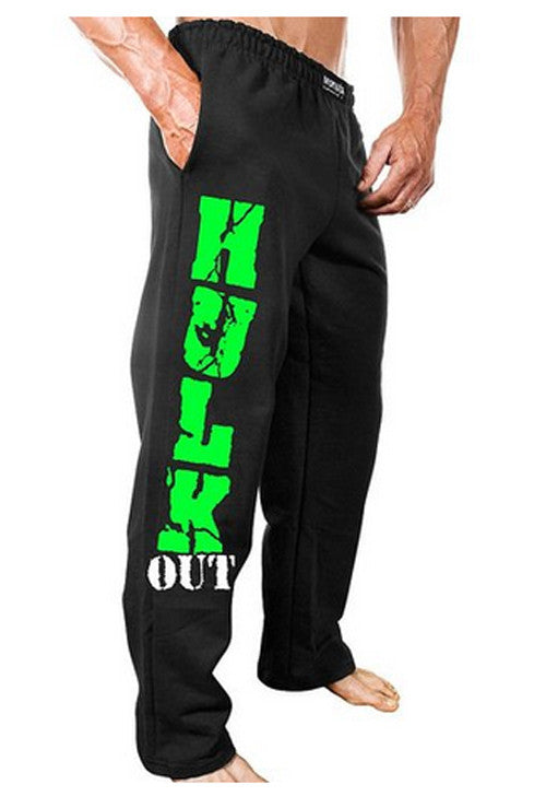 NEW Mens Workout MONSTA Hulk Out Sweatpants Bodybuilding Clothing Sweat Pants
