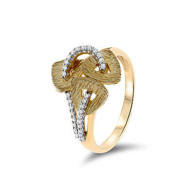 0.12ctw Genuine Natural Diamond Ring Size 7 14kt Yellow Gold