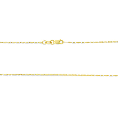 "16"" 0.8 mm. Raso Necklace Gold Chain 14kt Yellow Gold"