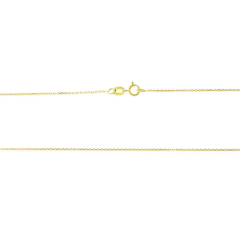 "16"" 0.4 mm. Square Rolo Necklace Gold Chain 14kt Yellow Gold"