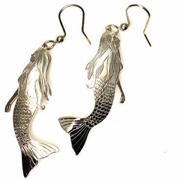 STERLING SILVER MERMAID EARRINGS - Side Street Studio