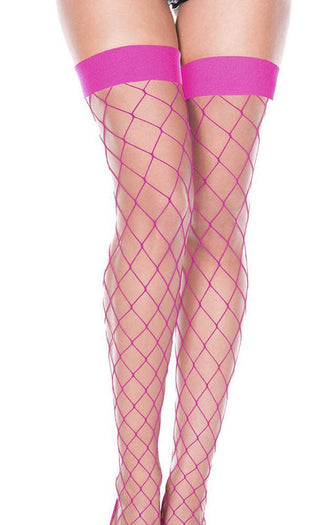 Hot Pink Spandex Fence Net | THIGH HIGH