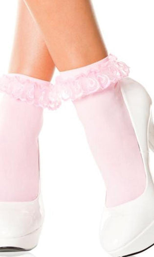 Pink Frill | ANKLE SOCKS