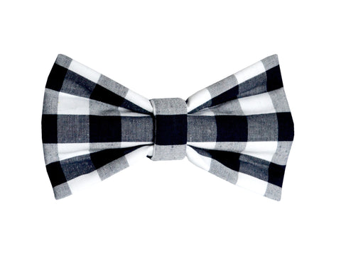 Black and White Gingham Bowtie