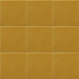 mustard yellow ceramic tiles from Mexico