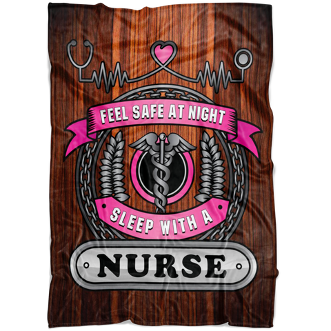 Christmas Special Feel Safe At Night Sleep With A Nurse Throw Blanket