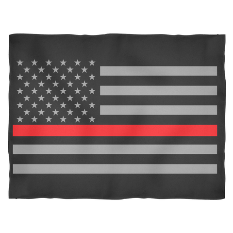 Thin Red Line American Flag Blankets