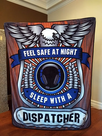 Christmas Special - Dispatcher - Feel Safe at Night, Sleep With a Dispatcher Throw Blanket