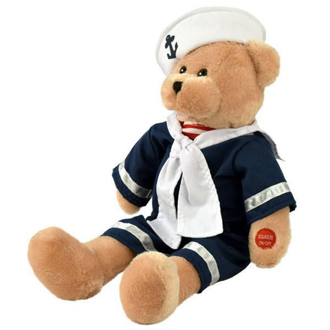 "19"" Sailor Bear Sings and Sways to ""Beyond the Sea"""