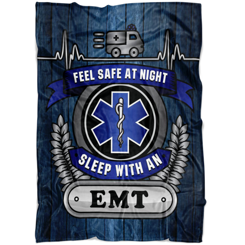 Christmas Special - EMT - Feel Safe at Night, Sleep with an EMT Throw Blanket