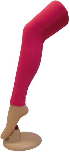 Pink Solid Leggings