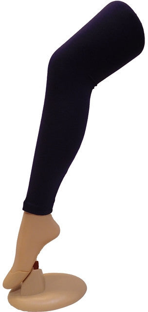Navi Blue Solid Leggings