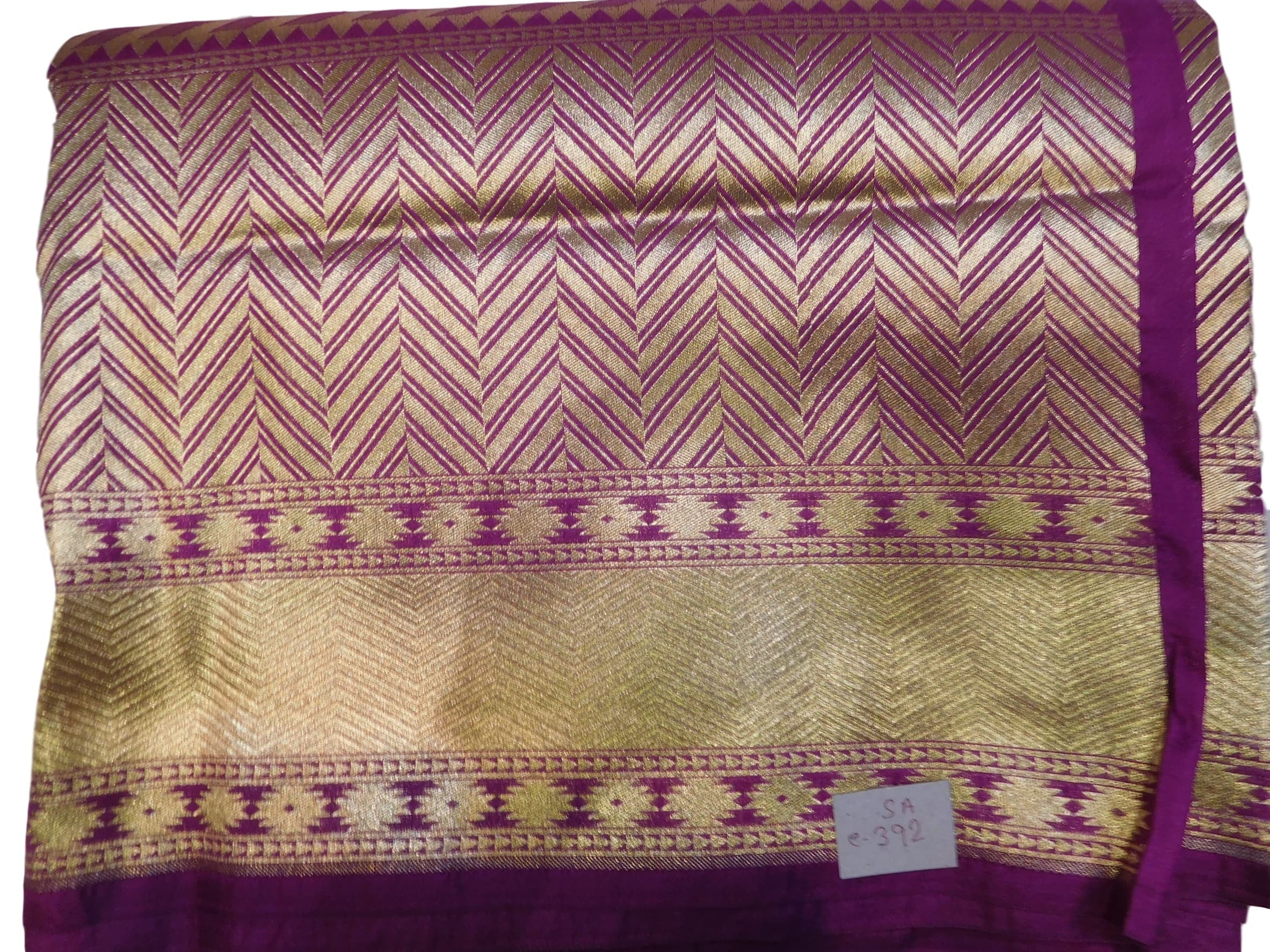 Wine Designer Bridal Hand Weaven Pure Benarasi Zari Work Saree Sari With Blouse