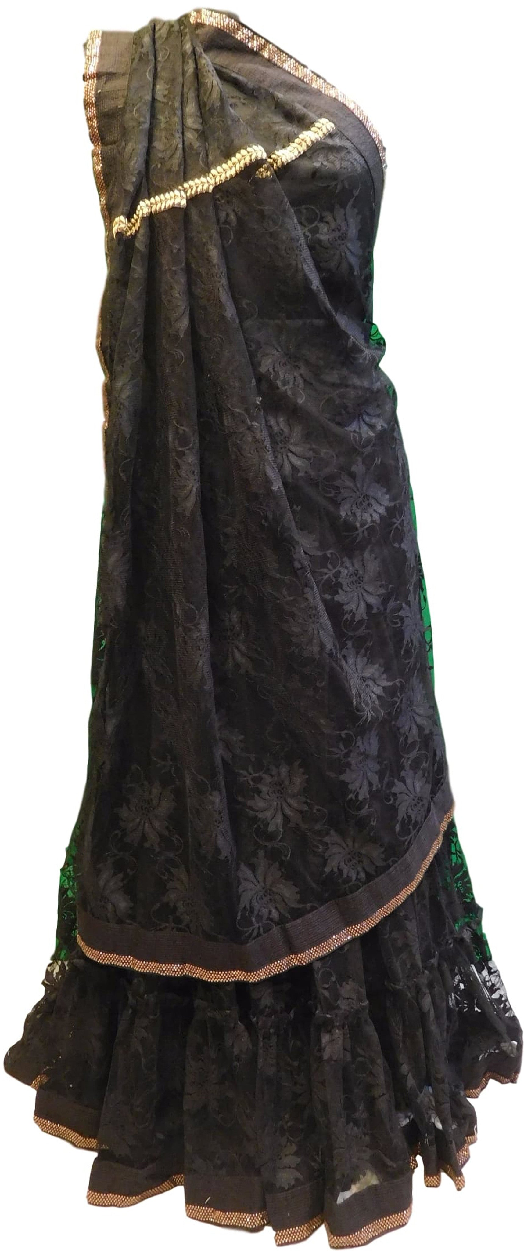 The Show Stopper Saree Is Beautiful Black !!