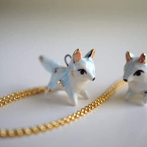 Blue Wolf Necklace