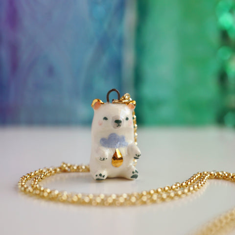 Rain Bear Necklace
