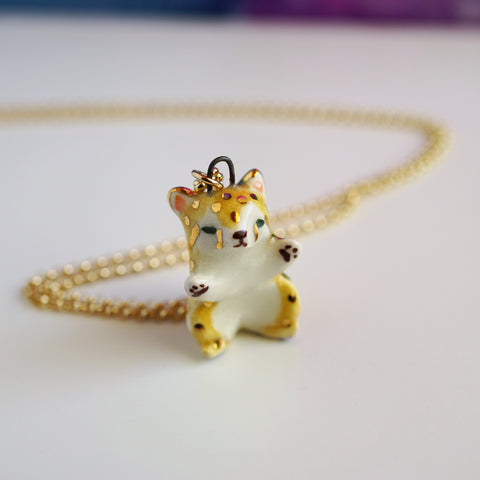 Playful Cheetah Necklace