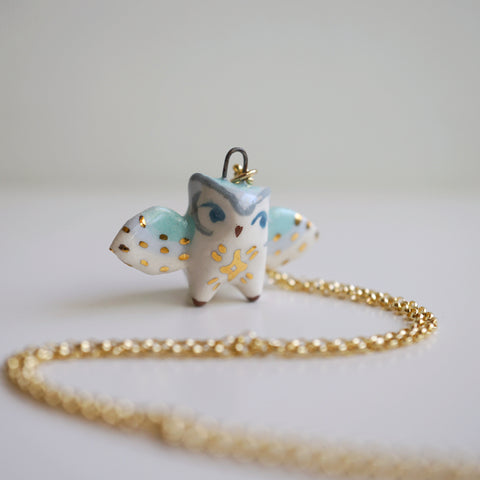 Starry Owl Necklace