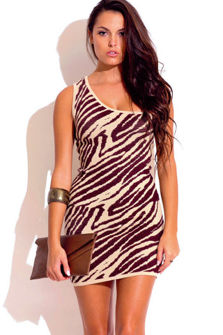 Animal Print Bodycon Clubwear Dress