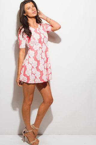Sweet Pink Floral Dress