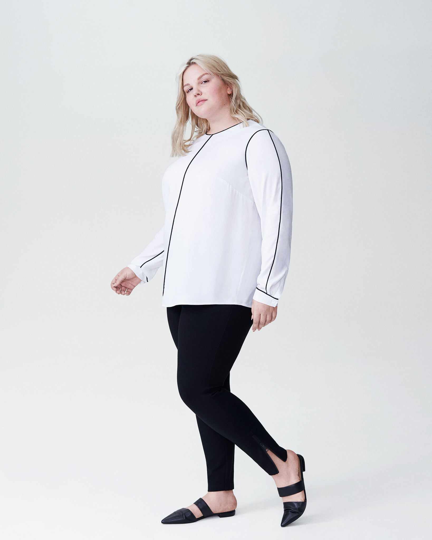Elsa Outline Top  - White