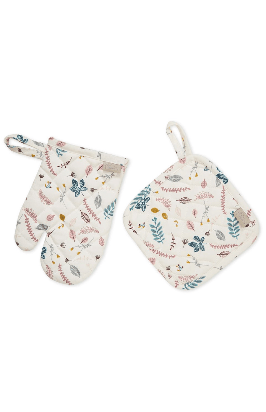 Cam Cam Copenhagen Kids Oven Glove Play set - Pressed Leaves Rose