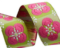 Pink Floral Tiles By LFN Textiles