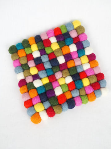 Marbles Felt Pot Stand Multi Square