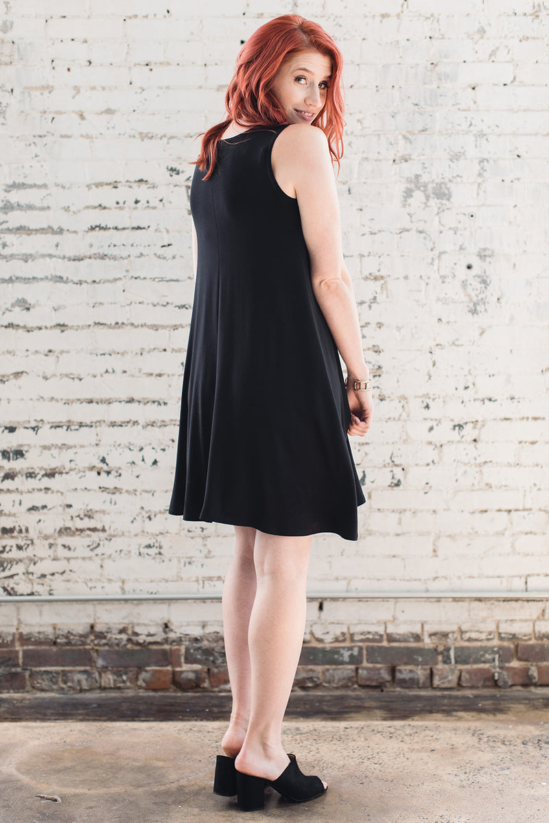 Simple flowy bamboo dress