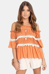 Tuscan Sun Top | ORANGE