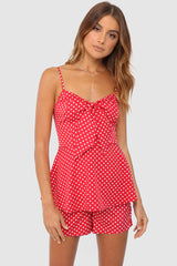 SOPHIA ROMPER | RED POLKA DOT