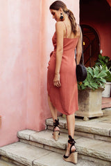 Rayz Wrap Dress | RUST