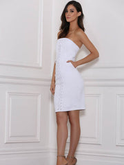 Remi Denim Dress White - SALE