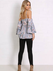 Lotus Top | Lilac Print - SALE