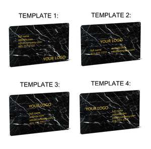 Nero Marquina Marble Business Cards - MIKOL