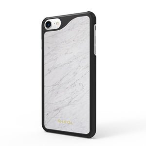 Carrara White (Black Border) Marble iPhone Case (Limited Quantity) - MIKOL - 1