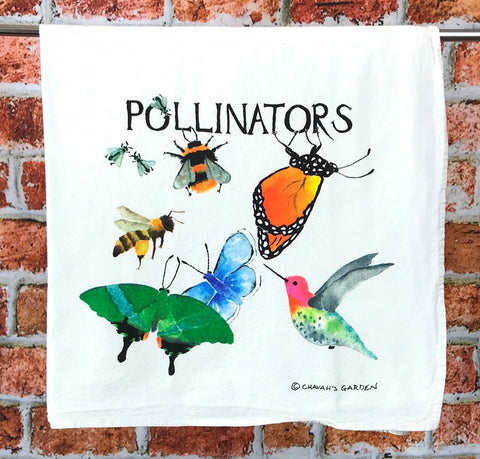 Pollinators Flour Sack Tea Towel