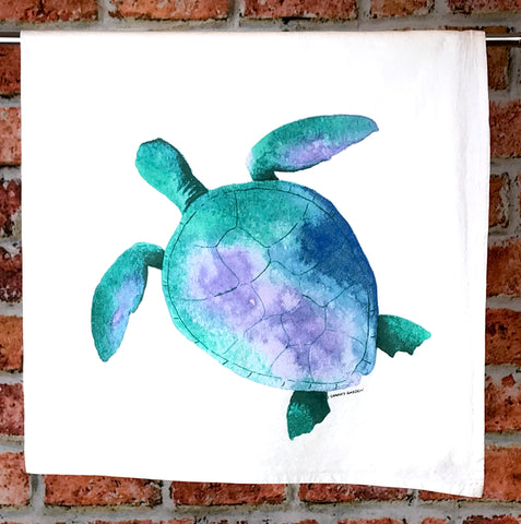 Sea Turtle Tea Towel, Kitchen towel