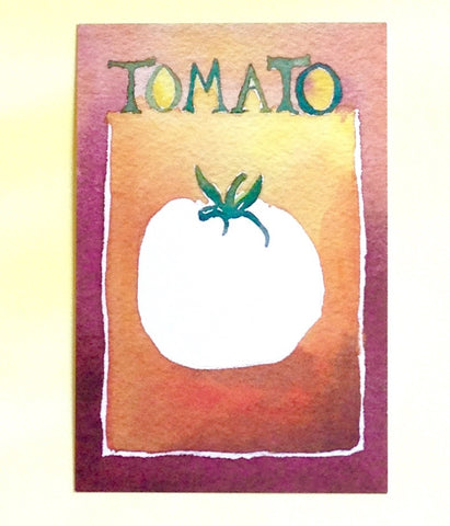 Watercolor Tomato Postcards