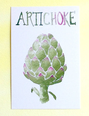 Watercolor Artichoke Postcards
