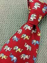 Funny Elephants TIE Small Repeat Animal Novelty Silk Men Necktie 18
