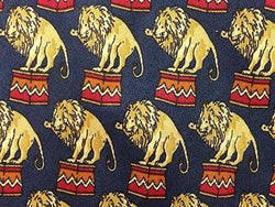 Lion on Pedestal Circus TIE Small Repeat Animal Novelty Silk Men Necktie 18