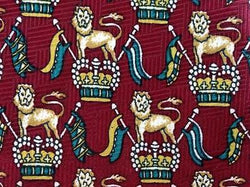 Lions Crown Crest Sigil TIE Repeat Animal Novelty Silk Men Necktie 18