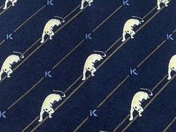 Animal Tie Kriziauomo White Panthers On Black Silk Men Necktie 42