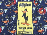 DAFFY DUCK Italian Silk Tie by Iside & Intermoda - Navy, Red, White 40