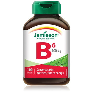 Jamieson Vitamin B6  100 mg 100 Tablets