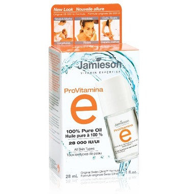 Jamieson ProVitamina E 100% Pure Vitamin E Oil  28 ml Glass Jar