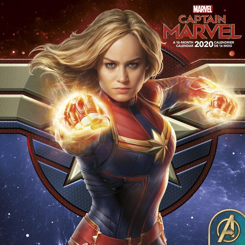 Captain Marvel 2020 Wall Calendar Front Cover