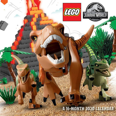 Lego Jurassic World 2020 Wall Calendar Front Cover